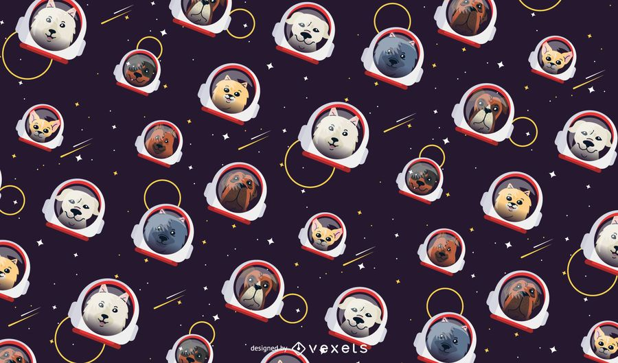 Diseño del patrón de los perros del espacio