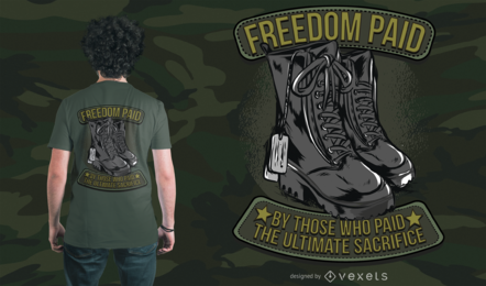 Army Freedom T-Shirt Design