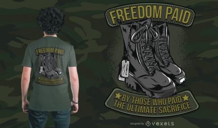 Diseño de camiseta Army Freedom