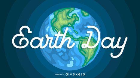 Ilustración del cartel del Día de la Tierra