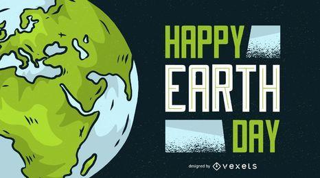 Glückliche Tag der Erde-Illustration
