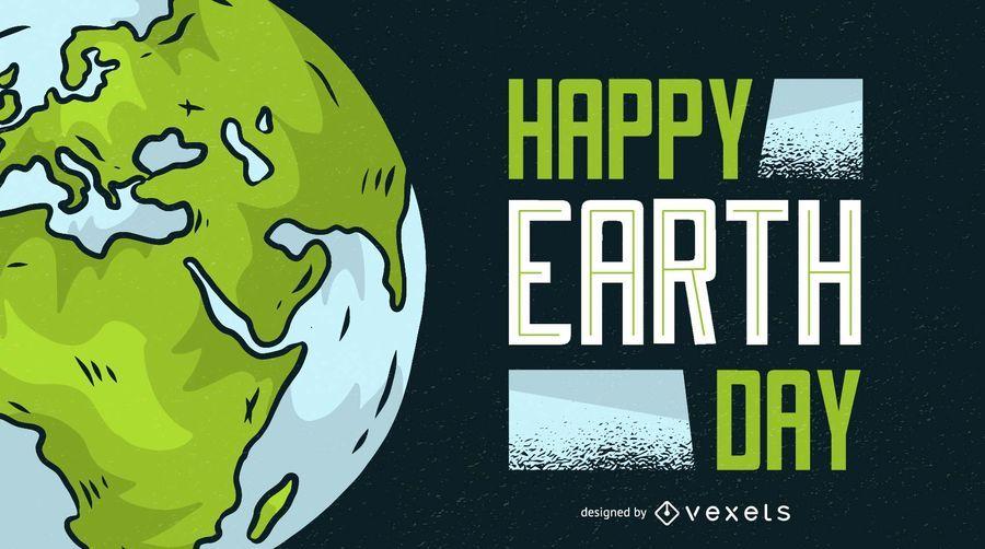 Ilustración feliz del día de la tierra