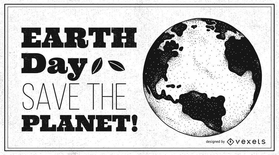 Design de cartaz do Dia da Terra