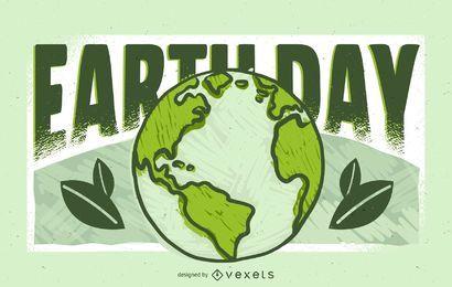Projeto de ilustração do dia da terra