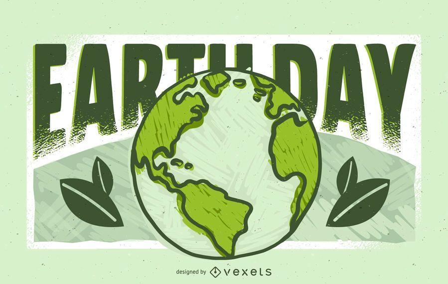 Diseño de ilustración del día de la tierra