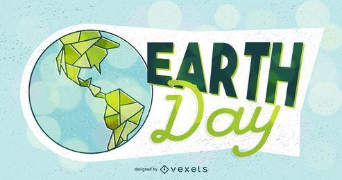 Diseño del cartel del ejemplo del Día de la Tierra