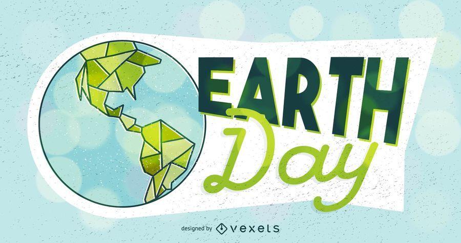 Tag der Erde-Illustration Poster Design