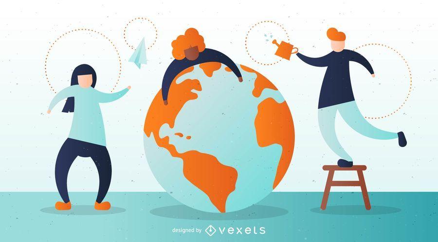 Earth Illustration Design