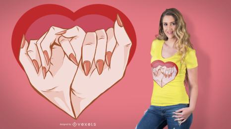 Projeto do t-shirt do amor da promessa do Pinkie