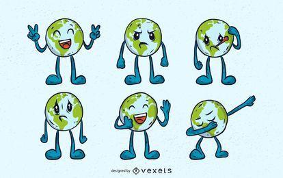 Erde Emojis Set