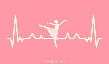 Design de batimento cardíaco de bailarina