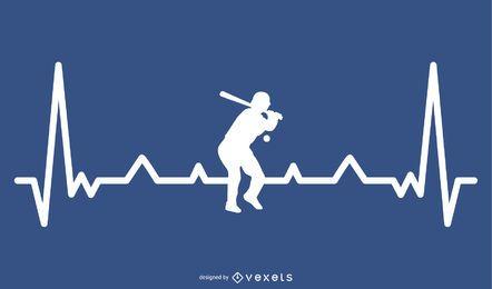 Baseball-Herzschlagentwurf