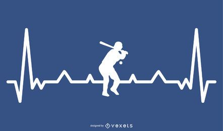 Diseño de béisbol Hearbeat