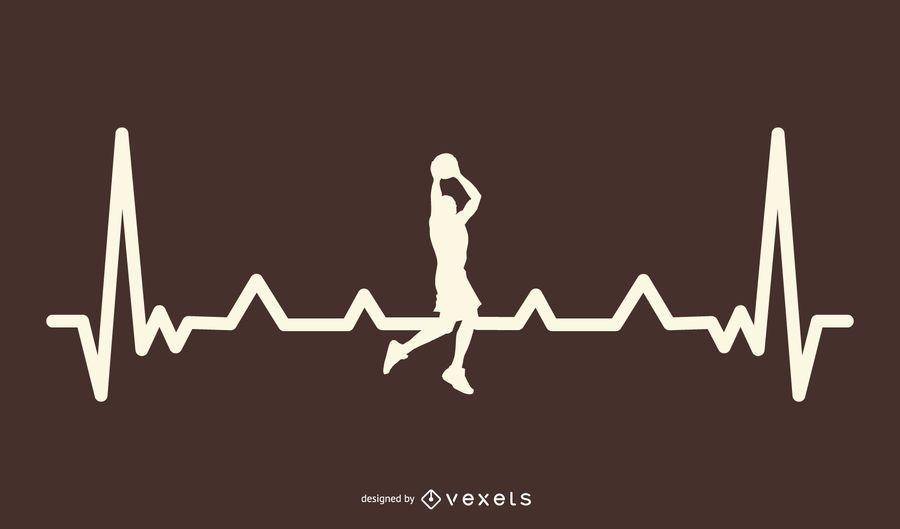 Projeto de batimento cardíaco de basquete