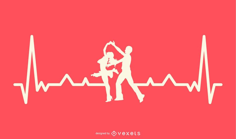Dancing with Heartbeat Line Design