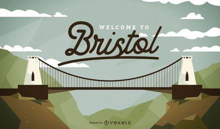 Projeto de paisagem de ponte de Bristol