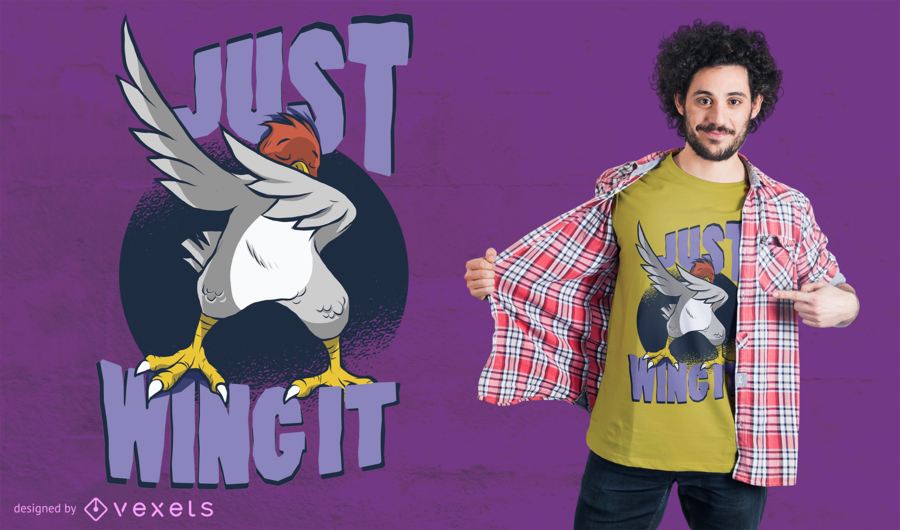 Wing It Bird camiseta de diseño
