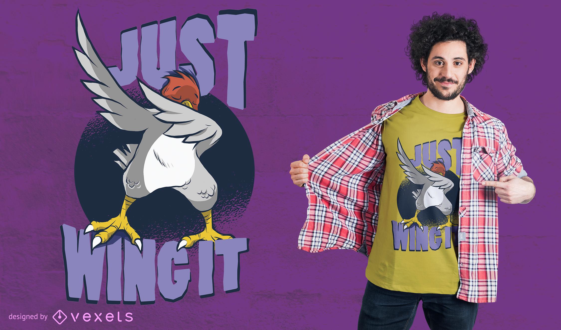 Wing It Bird T-Shirt Design