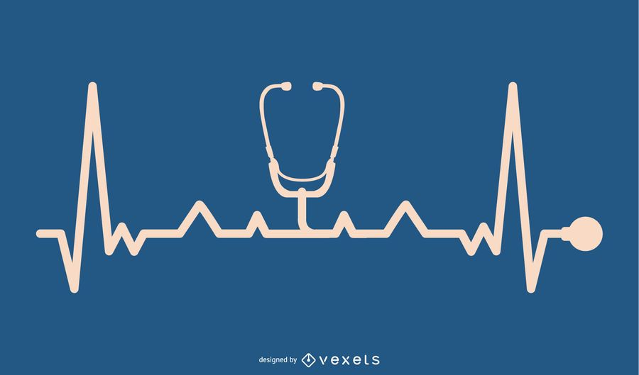 Stethoskopgerät mit Heartbeat-Line-Design