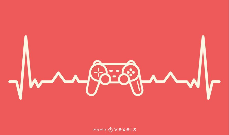 Video Gaming with Heartbeat Line design