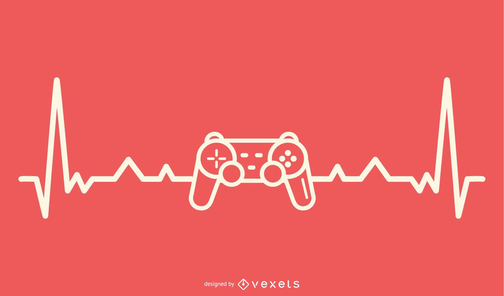 Videojuegos con diseño Heartbeat Line