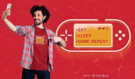 Diseño de camiseta de joystick de jugador