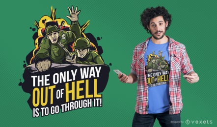 Diseño de camiseta Army Escape