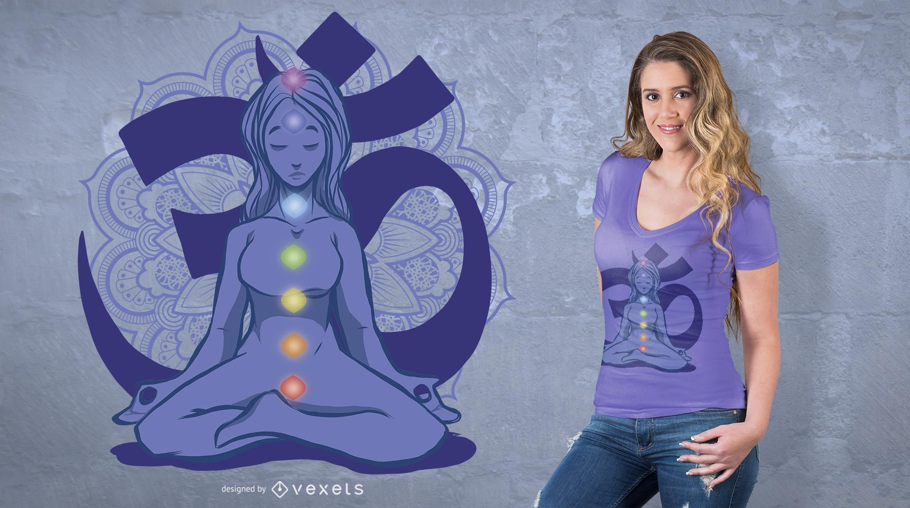Chakras T-Shirt Design