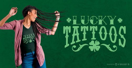 Lucky Tattoos T-Shirt Design