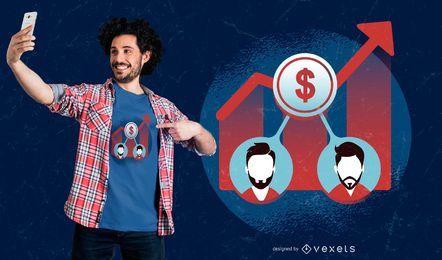 Ações Acionistas T-Shirt Design