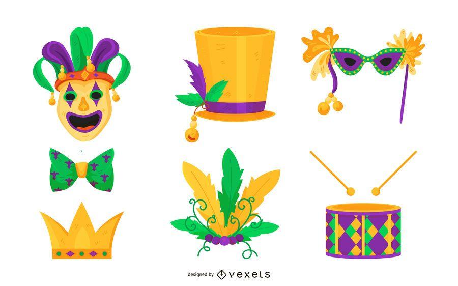 Conjunto de vectores de Mardi Gras