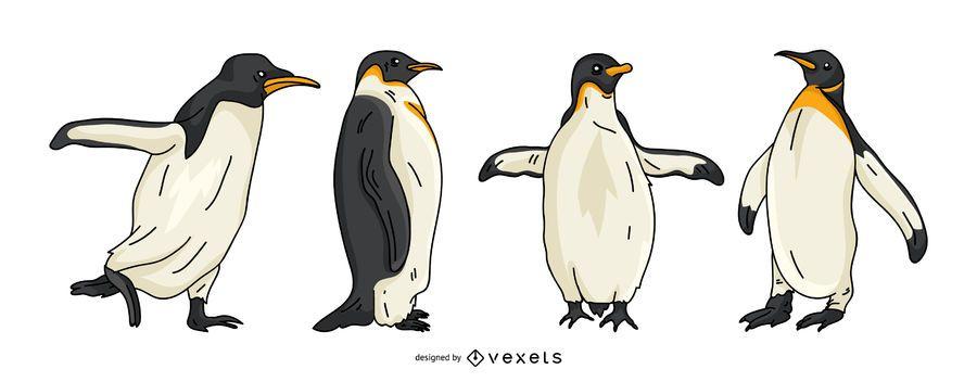 Conjunto de vectores de pingüino