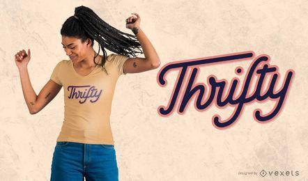 Design de t-shirt parcimonioso