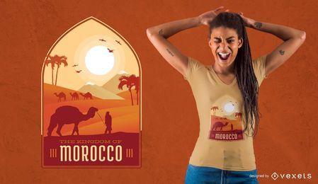 Diseño de camiseta de Marruecos