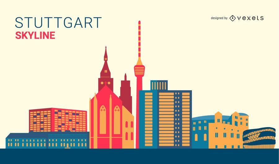 Stuttgart Skyline Design