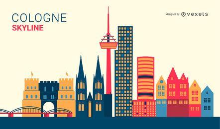 Köln, Deutschland Skyline Design