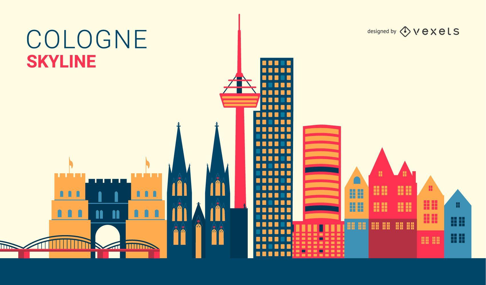 Diseño del horizonte de Colonia Alemania