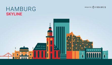 Diseño del horizonte de Hamburgo
