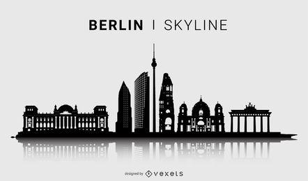 Design de silhueta do horizonte de Berlim