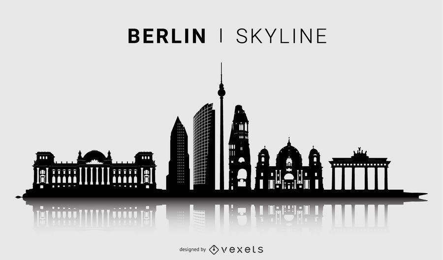 Berliner Skyline Silhouette Design