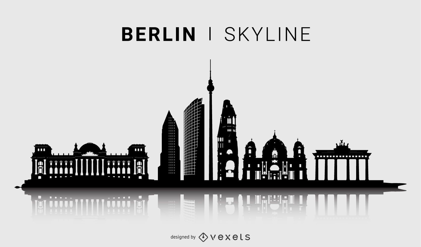 Berlin Skyline Silhouette Design