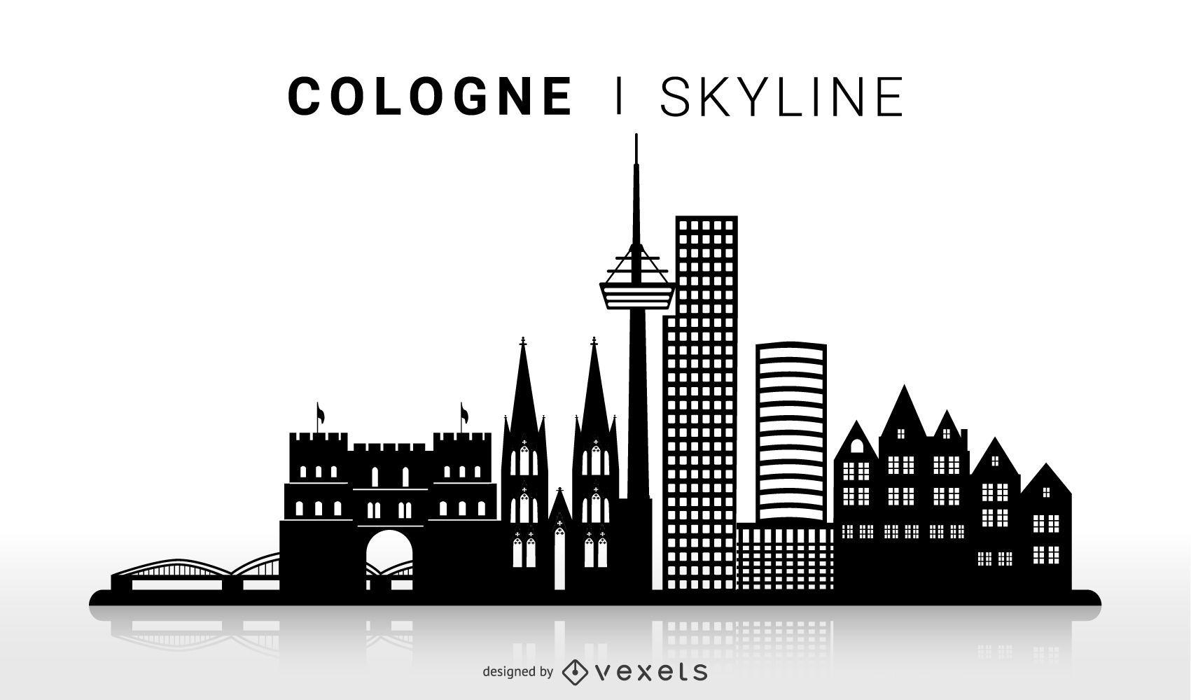 Diseño de silueta de horizonte de Colonia