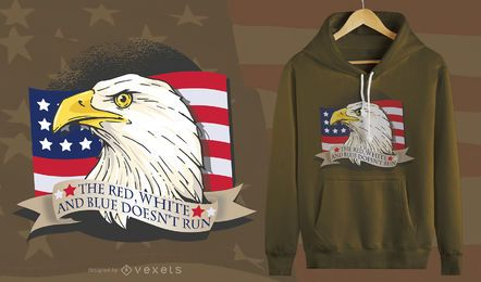 Diseño de camiseta American Patriot Eagle