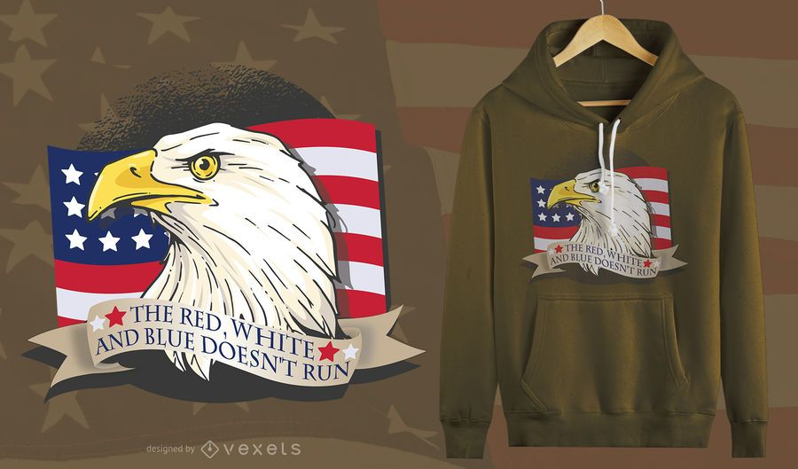 American Patriot Eagle T-Shirt Design