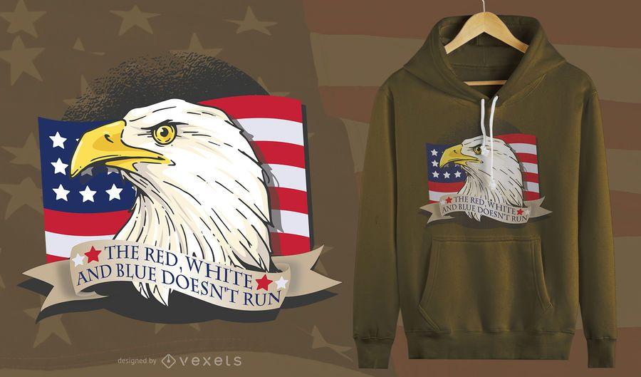 Diseño de camiseta American Patriot Eagle