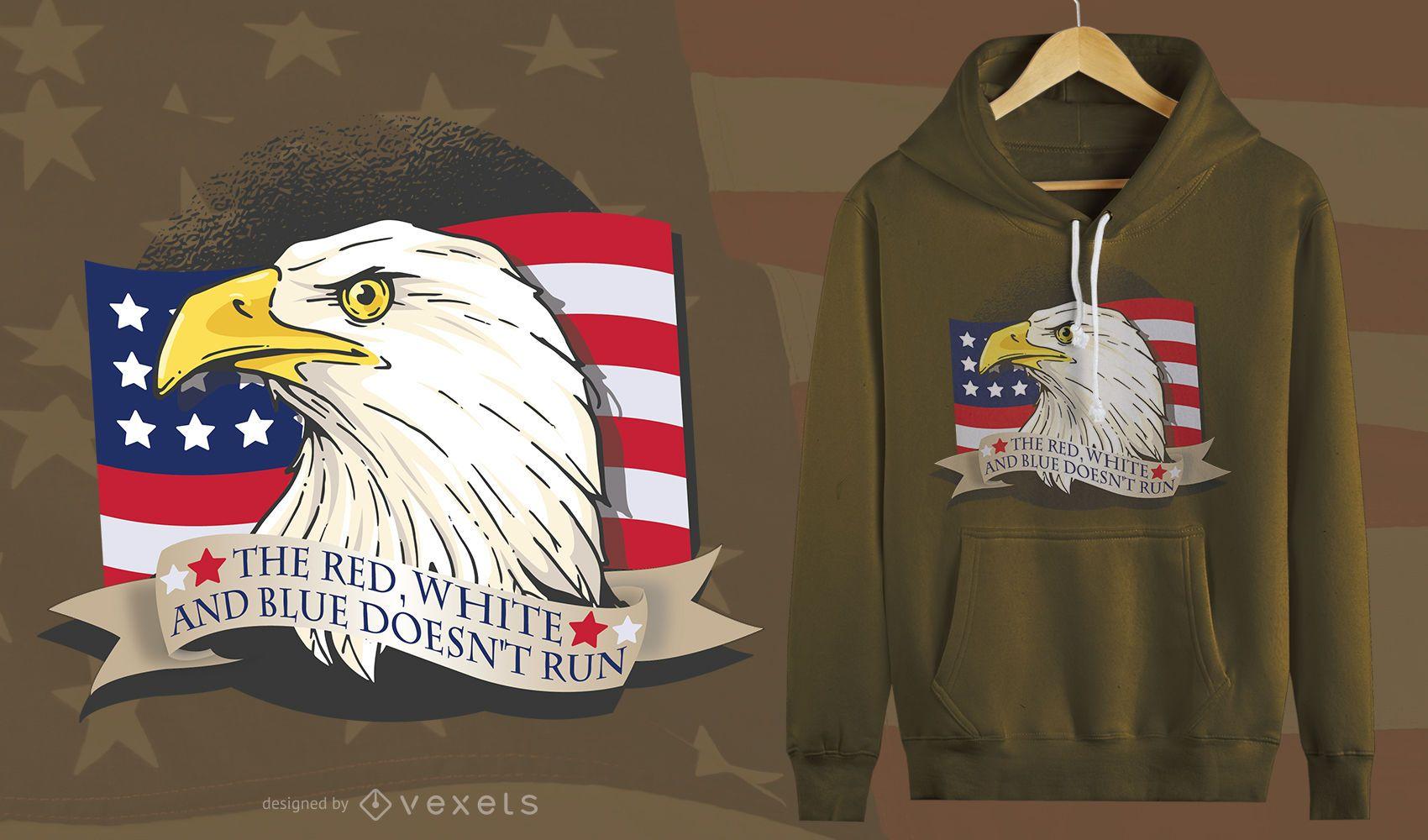 American Patriot Eagle T-Shirt Design