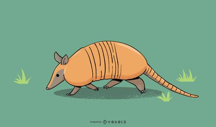 Armadillo Illustration Design