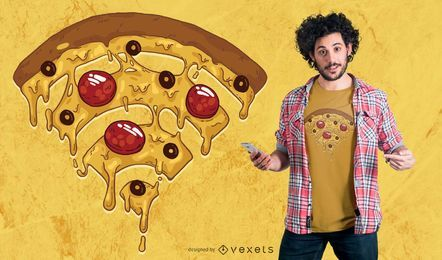 Pizza Wi-Fi Design T-Shirt