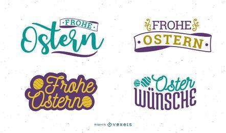 Frohe Ostern Ostern Gruß Design