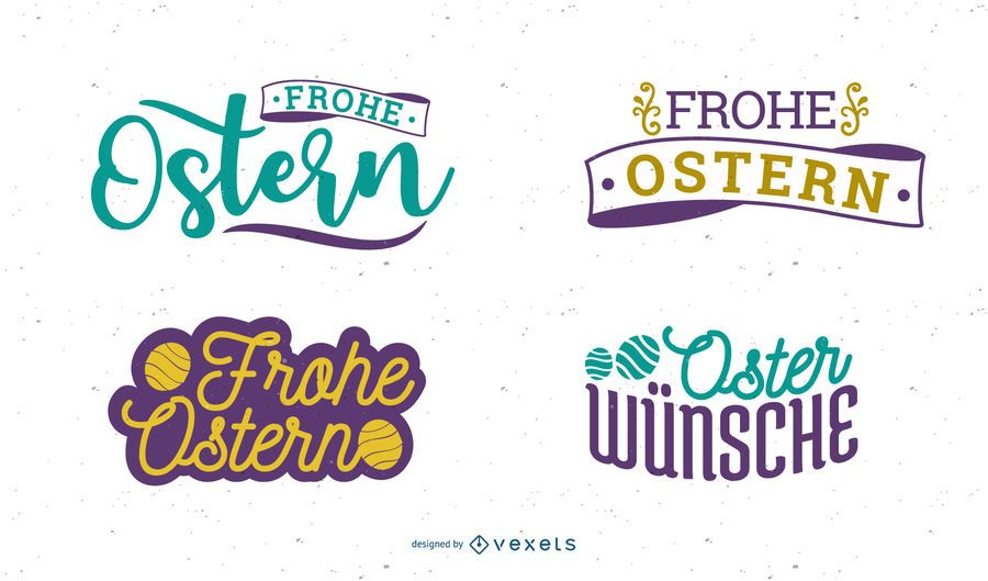 Frohe Ostern Easter Greeting Design